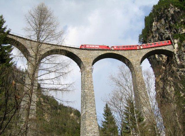Landwasserviadukt İsviçre, Foto: Wikipedia
