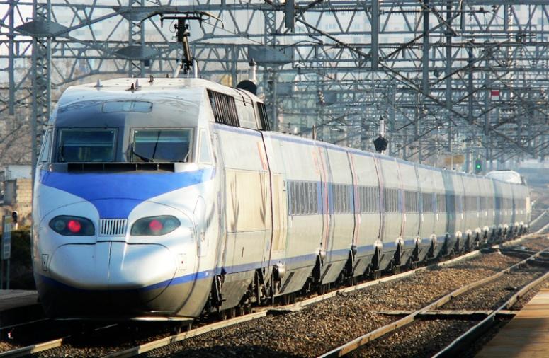Güney Kore'de Yüksek Hızlı Tren