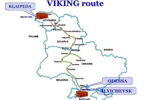 Viking Treni Rotası, Harita: Wikimedia