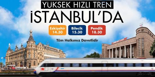 133 - İstanbul Ankara Hızlı Tren Açılış Töreni. Afiş: TCDD