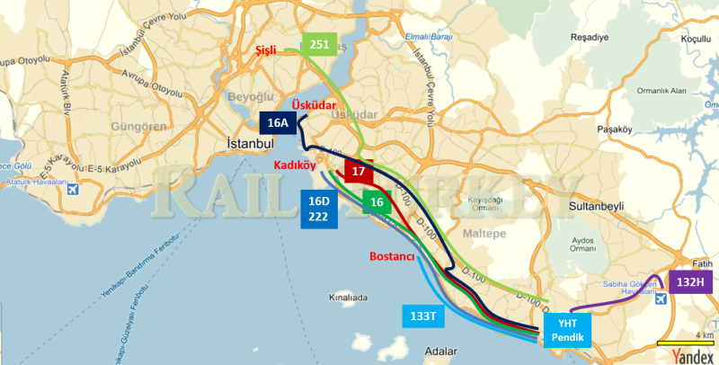 144 - İstanbul YHT otobüsle ulaşım - Onur