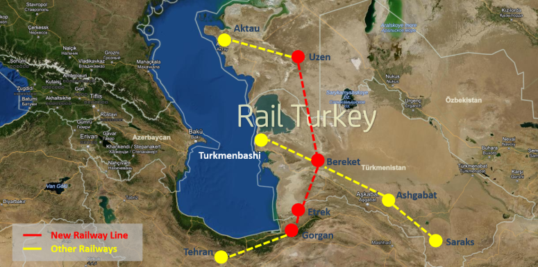 200 - Kazakistan Türkmenistan İran Demiryolu