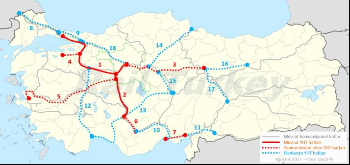 290 - Türkiye hızlı tren hatları - Onur Uysal