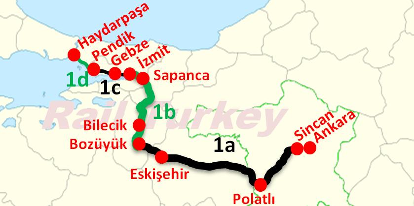 Ankara İstanbul Hızlı Tren Haritası