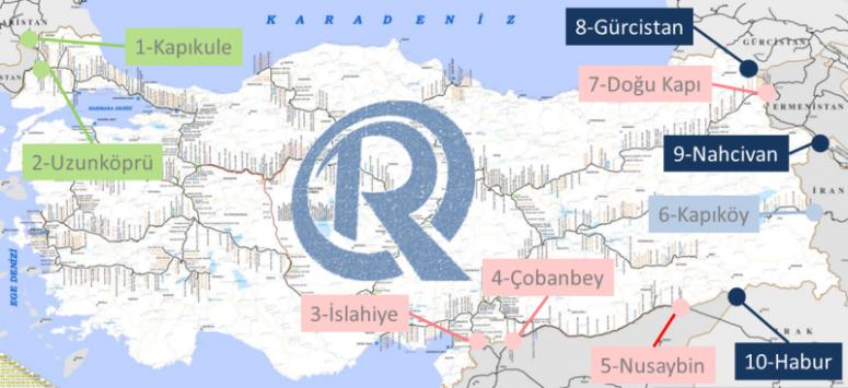 Türkiye'nin Planlanan Demiryolu Sınır Geçişleri