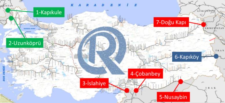 Türkiye'nin Demiryolu Sınır Geçişleri