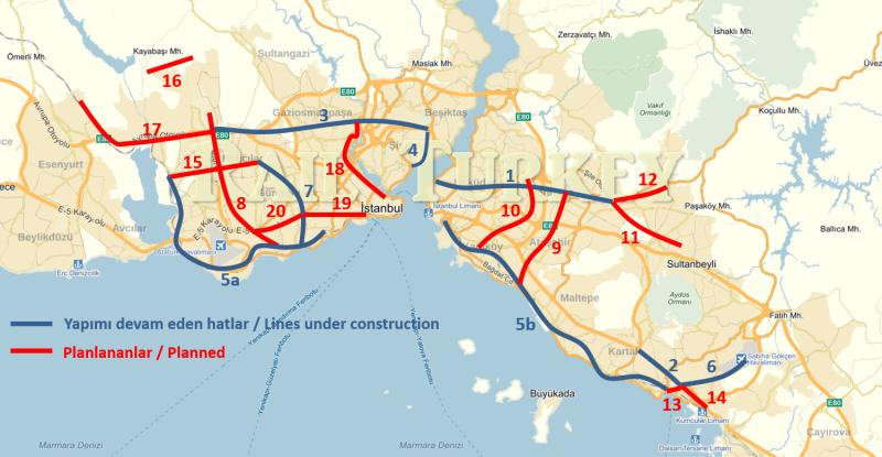 327 - İstanbul yeni metro hatları - Onur