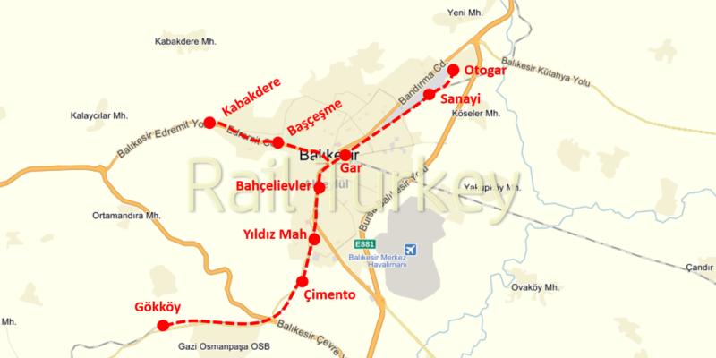 460 - Balıkesir Banliyo Treni Projesi