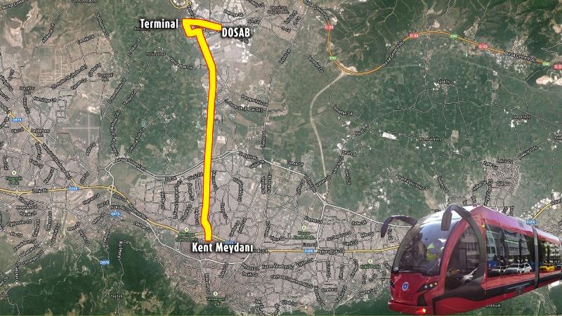 484 - Bursa T2 tramvay hattı