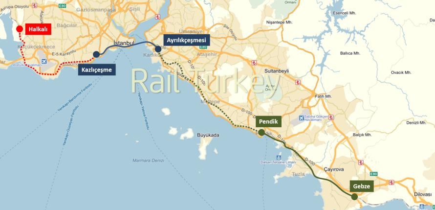 497 - 600 - Marmaray Projesi Güzergahı
