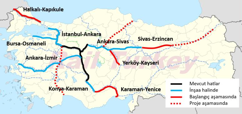 Hızlı Tren Hat Çalışmaları 2016