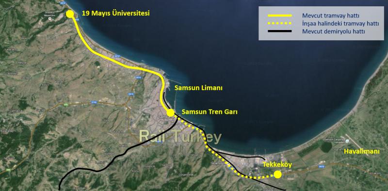 Samsun Tramvay Güzergahları