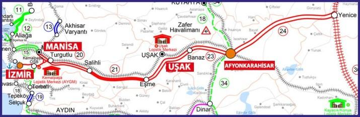 Ankara İzir hızlı tren hattı güzergahı - TCDD