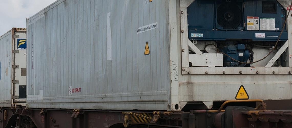 590 - Frigo container train - Marseille Port
