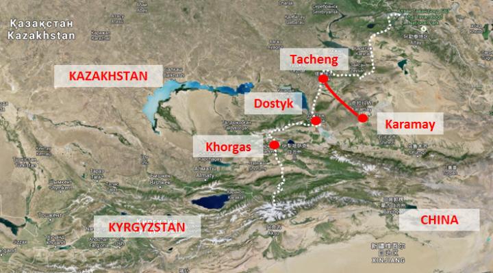 Çin-Kazakistan sınır geçişleri