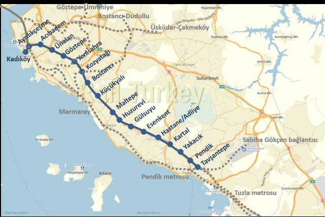 kadıköy kartal tavşantepe metrosu