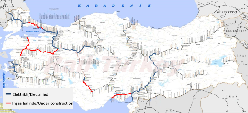 Türkiye demiryolları elektrifikasyon