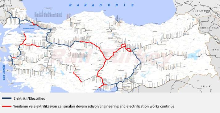 716 - Türkiye elektrikli hatlar haritası 2017