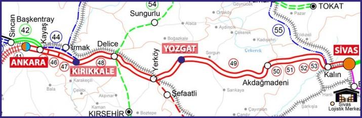323 - Ankara Sivas yüksek hızlı tren hattı - TCDD