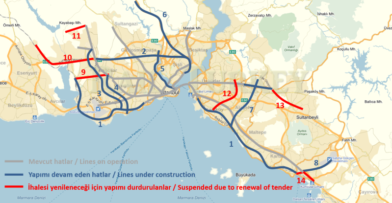 811 - Metro projects in Istanbul under construction