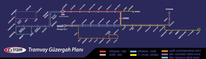 Eskişehir Tramvay Haritası