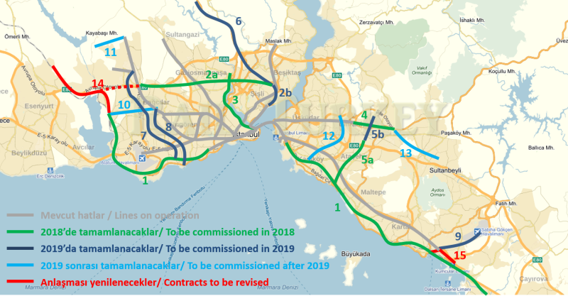 838 - Deadlines for Istanbul metro and tram projects