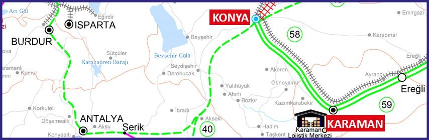Konya-Karaman hızlı tren hattı