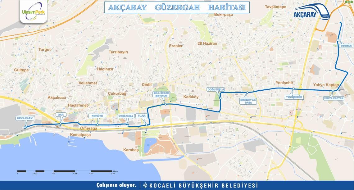 Kocaeli Akçaray tramvay hattı