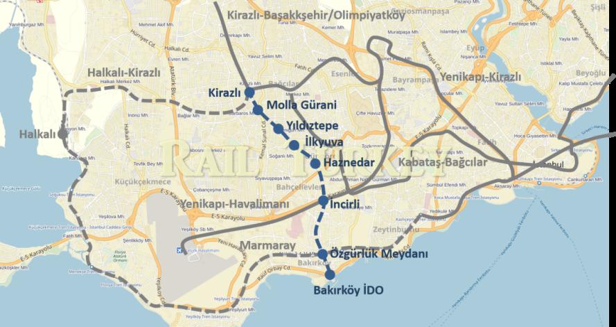 Kirazlı-Bakırköy metrosu (M3)