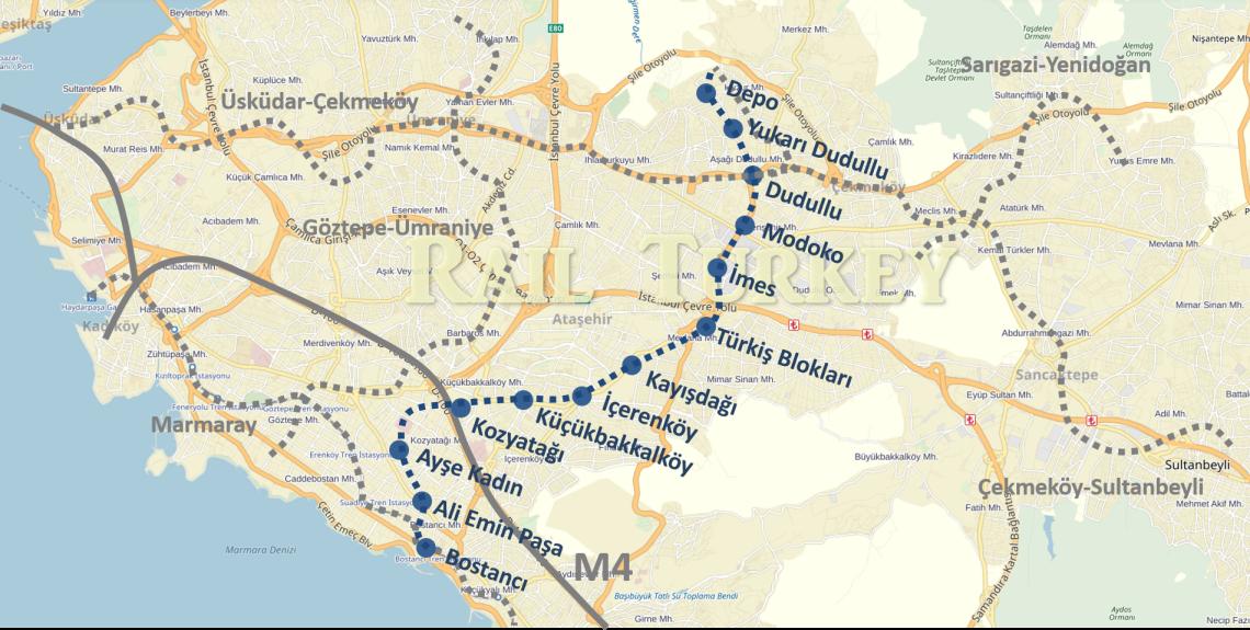 Bostancı-Dudullu metrosu (M8)