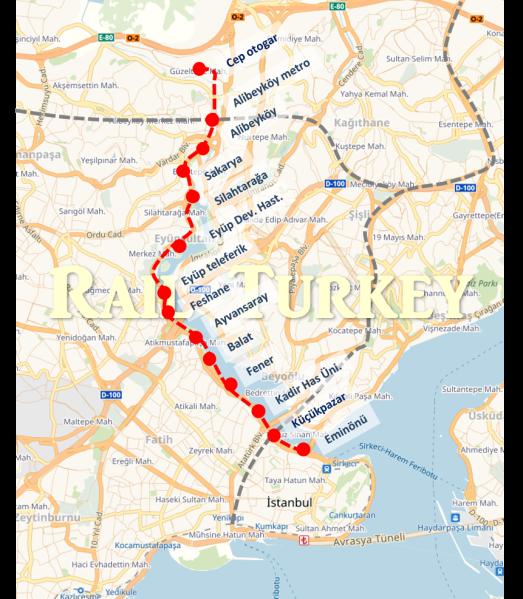 945 - Haliç Tramvay güzergahı