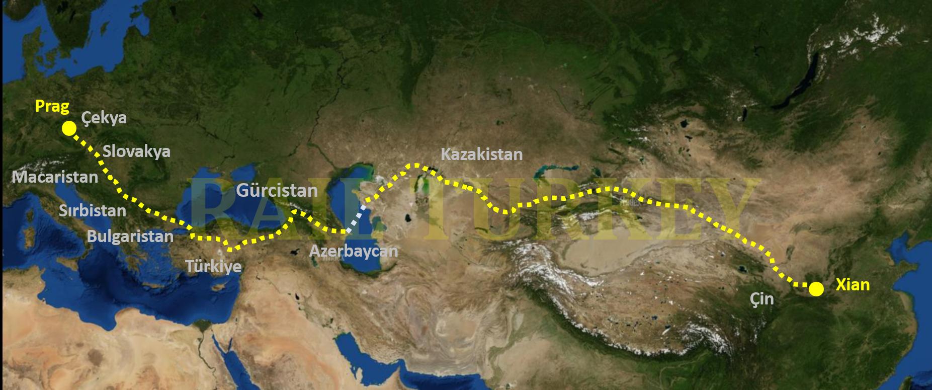 10 ülke, 11 bin km: Çin treni Türkiye'de