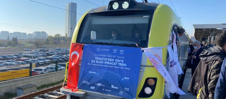 Çin'e ilk ihracat treni yola çıktı