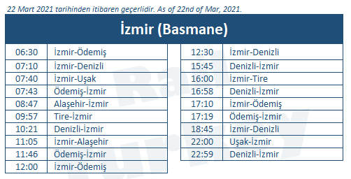 Basmane train station timetable