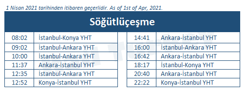 Sogutlucesme train station timetable