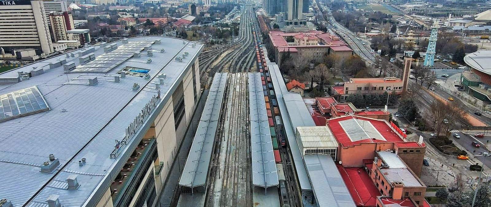 Ankara geçişi yük trenlerine açıldı